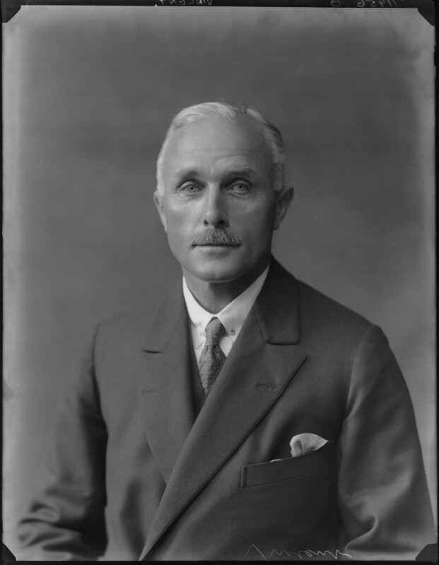 Sir Berkeley Vincent, by Walter Stoneman, 1924 - NPG x162286 - © National Portrait Gallery, London
