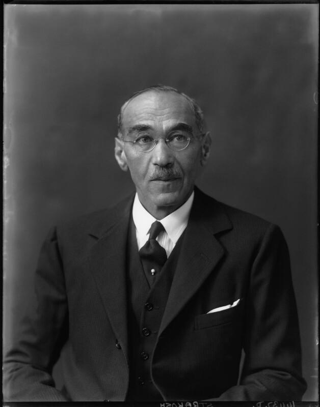 Sir Henry Strakosch, by Walter Stoneman, 16 September 1927 - NPG x162647 - © National Portrait Gallery, London