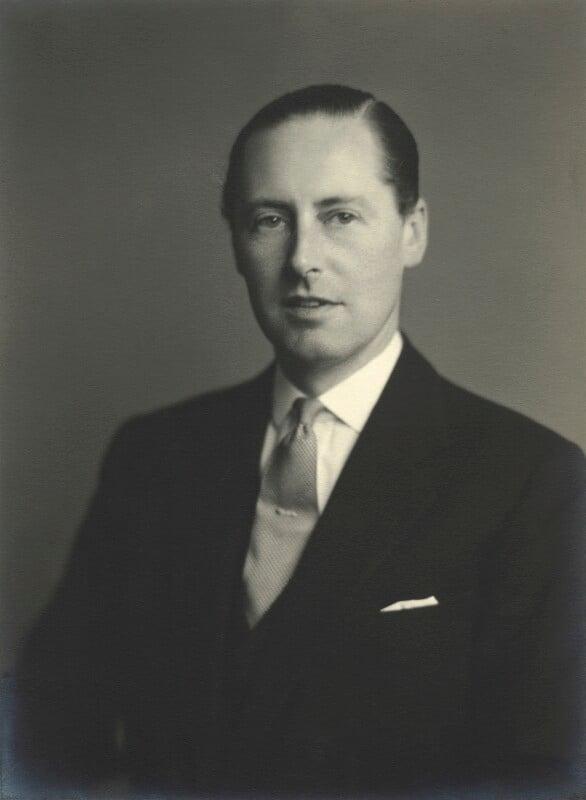 John Henry Guy Nevill, 5th Marquess Abergavenny, by Walter Stoneman, 1956 - NPG x163393 - © National Portrait Gallery, London