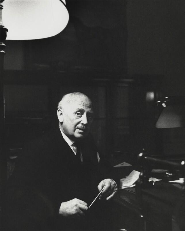 Michael Edward Adeane, Baron Adeane, by Godfrey Argent, 12 February 1969 - NPG x163433 - © National Portrait Gallery, London