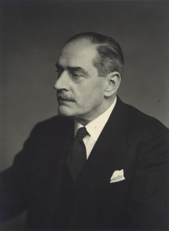 Sir Geoffrey Cuthbert Allchin, by Walter Stoneman, 1955 - NPG x163549 - © National Portrait Gallery, London