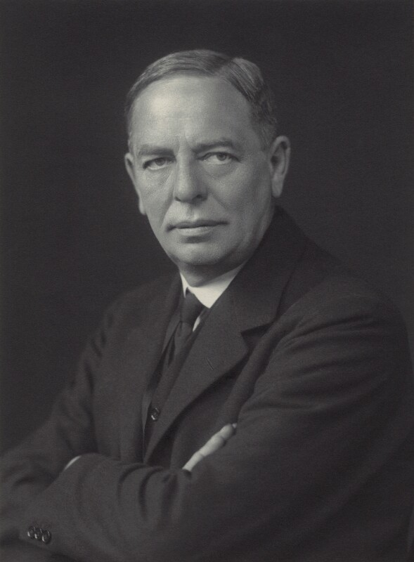 Sir Maurice Sheldon Amos, by Walter Stoneman, 1930 - NPG x163589 - © National Portrait Gallery, London