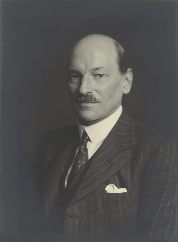 Clement Attlee, by Walter Stoneman, April 1940 - NPG x163784 - © National Portrait Gallery, London