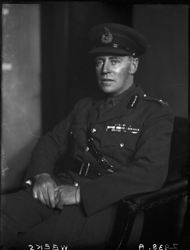 Ronald Morce Weeks, 1st Baron Weeks, by Walter Stoneman, May 1942 - NPG x164061 - © National Portrait Gallery, London