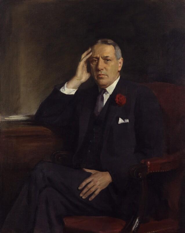 William Ewert Berry, 1st Viscount Camrose, by Sir Oswald Birley, circa 1933 - NPG 6436 - © National Portrait Gallery, London
