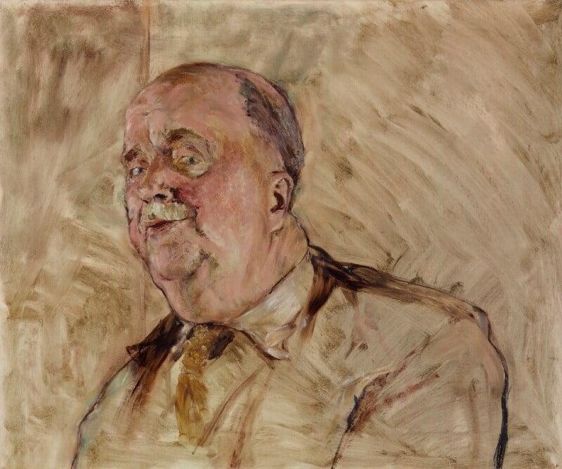 L.P. Hartley, by (Arthur) Derek Hill, circa 1965 - NPG 6426 - © National Portrait Gallery, London