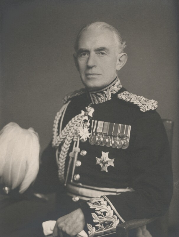 Sir John Reginald Hornby Nott-Bower, by Walter Stoneman, 1956 - NPG x164367 - © National Portrait Gallery, London