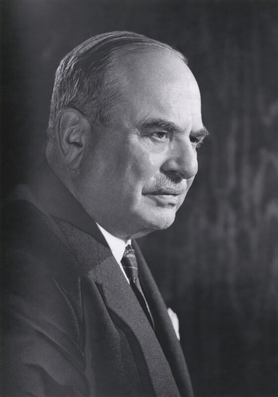 Harry Louis Nathan, 1st Baron Nathan, by Walter Bird, January 1959 - NPG x164697 - © National Portrait Gallery, London