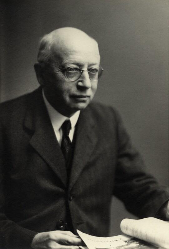Sir Alfred Eckhard Zimmern, by Walter Stoneman, October 1944 - NPG x165225 - © National Portrait Gallery, London