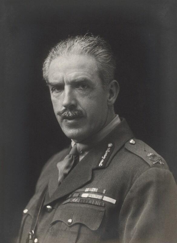 Sir (George) Tom (Molesworth) Bridges, by Walter Stoneman, 1918 - NPG x165515 - © National Portrait Gallery, London