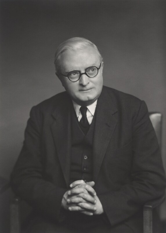 Sir Denis William Brogan, by Walter Stoneman, 1955 - NPG x165565 - © National Portrait Gallery, London