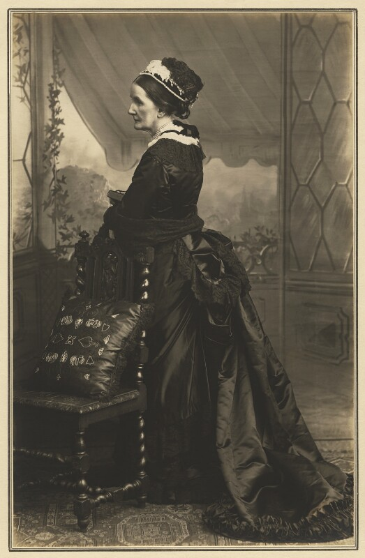 Angela Burdett-Coutts, Baroness Burdett-Coutts, by Elliott & Fry, 1882 - NPG x127418 - © National Portrait Gallery, London