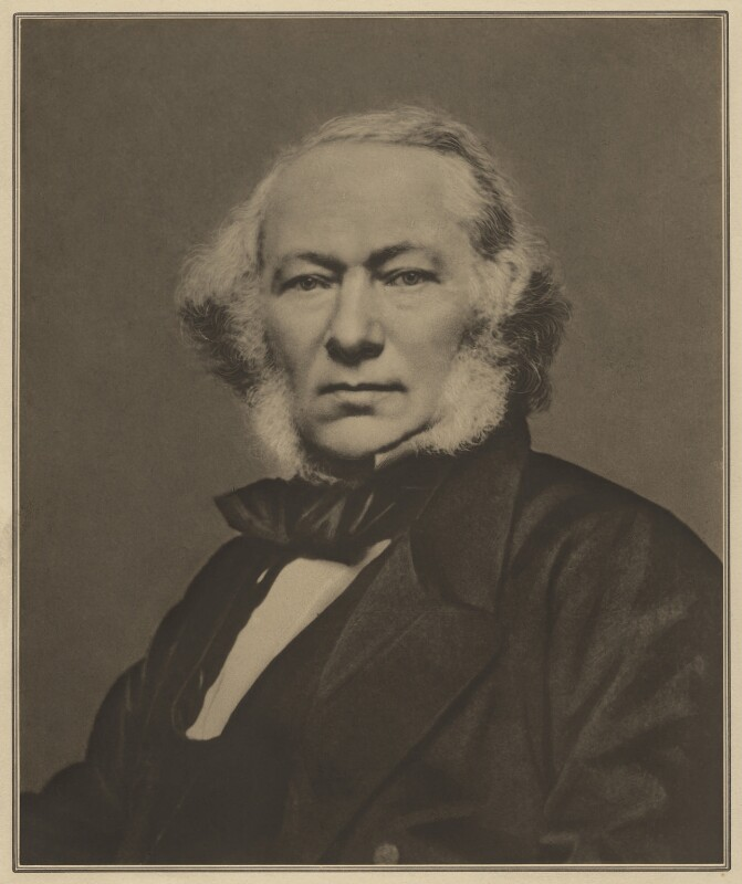 Richard Cobden, by Elliott & Fry, 1863 - NPG x127422 - © National Portrait Gallery, London
