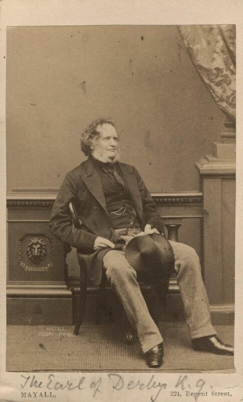 Edward Stanley, 14th Earl of Derby, by John Jabez Edwin Mayall, 1861 - NPG Ax16242 - © National Portrait Gallery, London