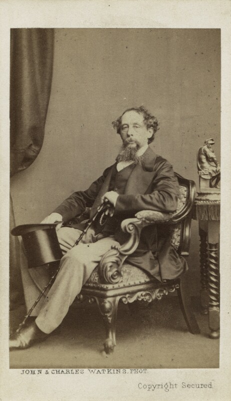 Charles Dickens, by John & Charles Watkins, 1861 - NPG Ax16252 - © National Portrait Gallery, London