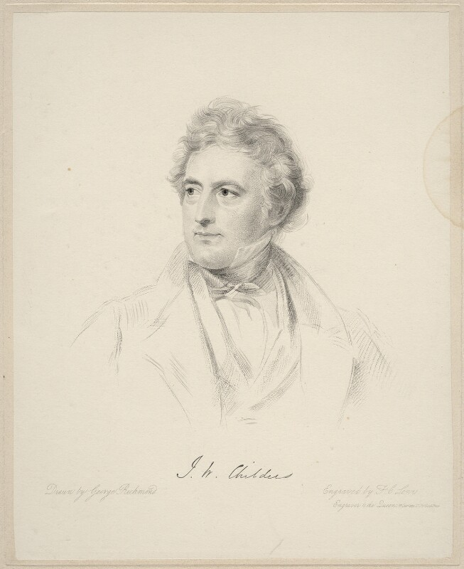 John Walbanke-Childers, by Frederick Christian Lewis Sr, after  George Richmond, 1841 or after - NPG D20656 - © National Portrait Gallery, London