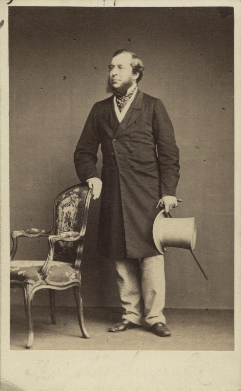 Sir Thomas Fairbairn, 2nd Bt, by John & Charles Watkins, early 1860s - NPG Ax16265 - © National Portrait Gallery, London