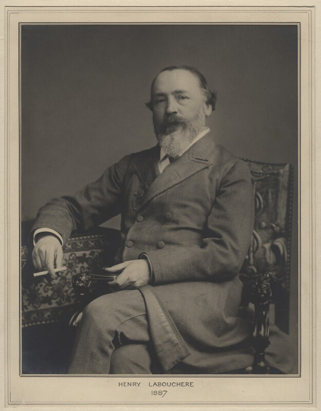 Henry du Pré Labouchère, by Elliott & Fry, 1887 - NPG x127453 - © National Portrait Gallery, London