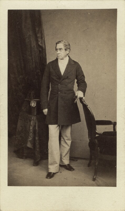 Brownlow Cecil, 2nd Marquess of Exeter, by William Edward Kilburn, 1860s - NPG Ax16264 - © National Portrait Gallery, London
