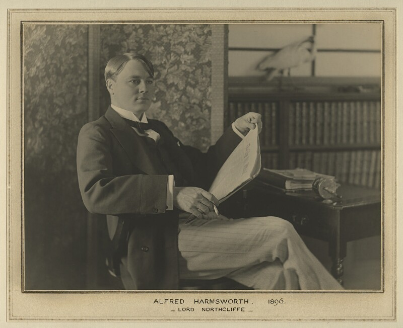 Alfred Harmsworth, 1st Viscount Northcliffe, by Elliott & Fry, 1896 - NPG x127467 - © National Portrait Gallery, London