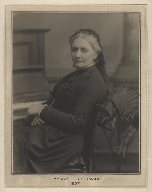 Clara Schumann, by Clarence Edmund Fry, for  Elliott & Fry, 1887 - NPG x127480 - © National Portrait Gallery, London