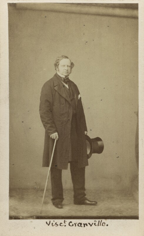 Granville George Leveson-Gower, 2nd Earl Granville, by Caldesi, Blanford & Co, early 1860s - NPG Ax16395 - © National Portrait Gallery, London
