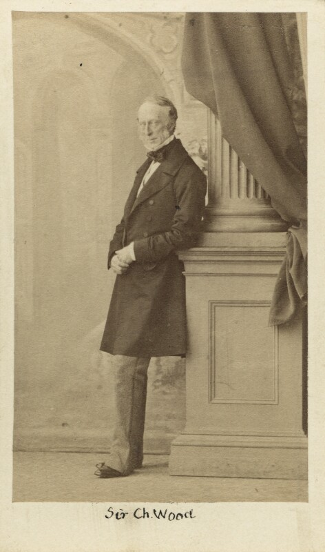 Charles Wood, 1st Viscount Halifax, by Caldesi, Blanford & Co, early 1860s - NPG Ax16400 - © National Portrait Gallery, London