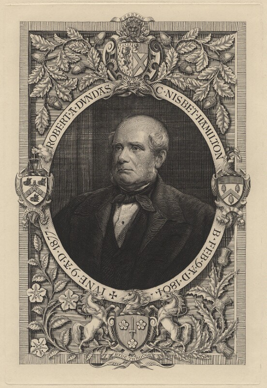 Robert Adam Nisbet-Hamilton (né Dundas), by Charles William Sherborn, exhibited 1880 - NPG D21190 - © National Portrait Gallery, London