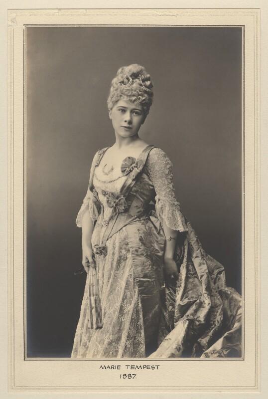 Marie Tempest as Dorothy Bantam in 'Dorothy', by Elliott & Fry, 1887 - NPG x127488 - © National Portrait Gallery, London
