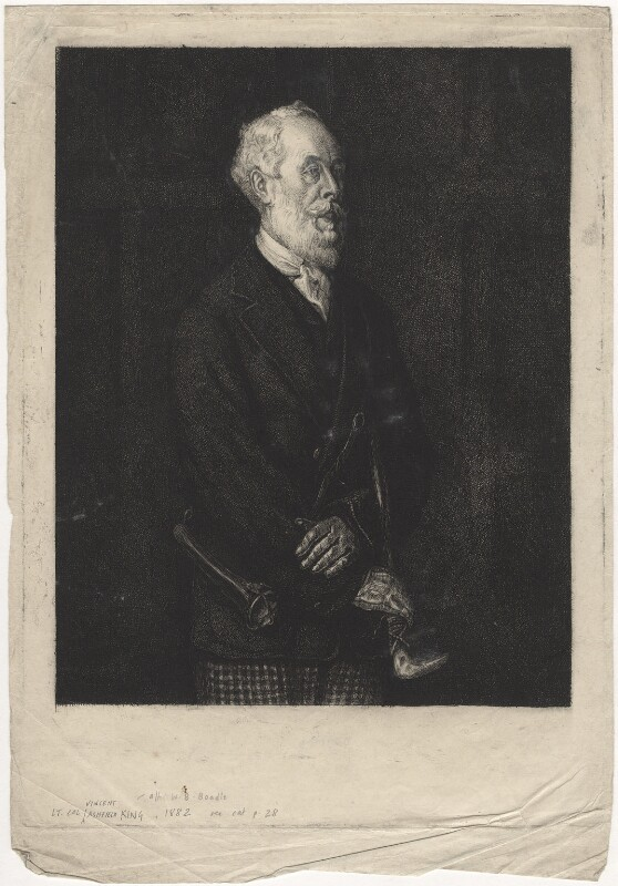 Vincent Ashfield King, by Charles William Sherborn, after  William Barnes Boadle, 1882 - NPG D21193 - © National Portrait Gallery, London