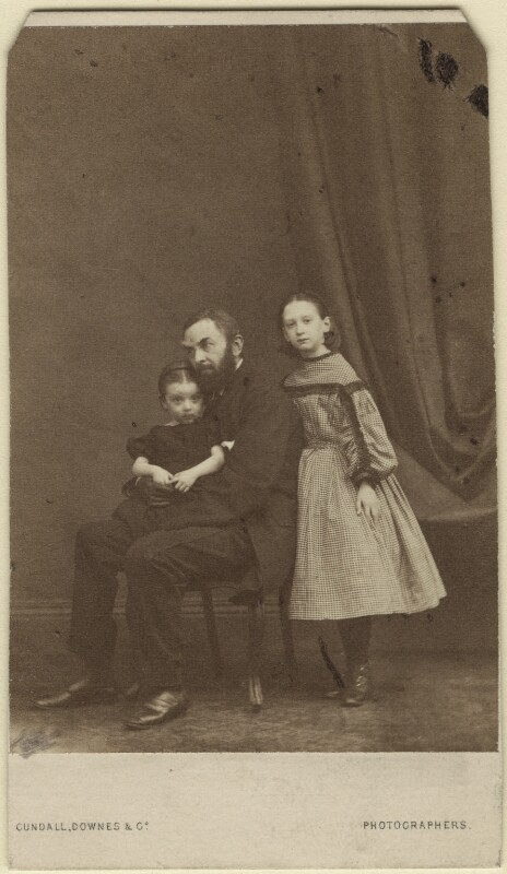 Florence Lockyer; James Morant Lockyer; Amy Lockyer, by Cundall, Downes & Co, circa 1863 - NPG Ax16434 - © National Portrait Gallery, London