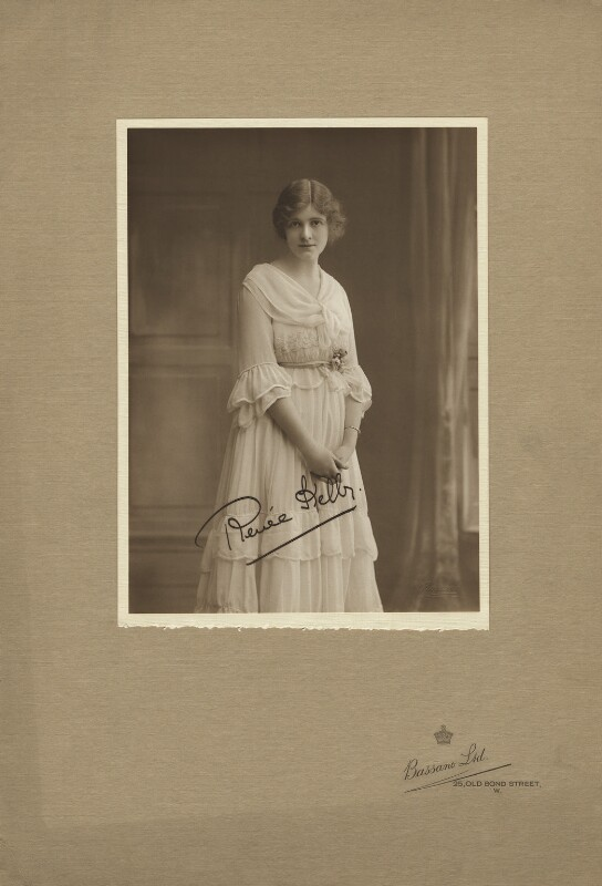 Renée Kelly, by Bassano Ltd, 22 June 1916 - NPG x127514 - © National Portrait Gallery, London