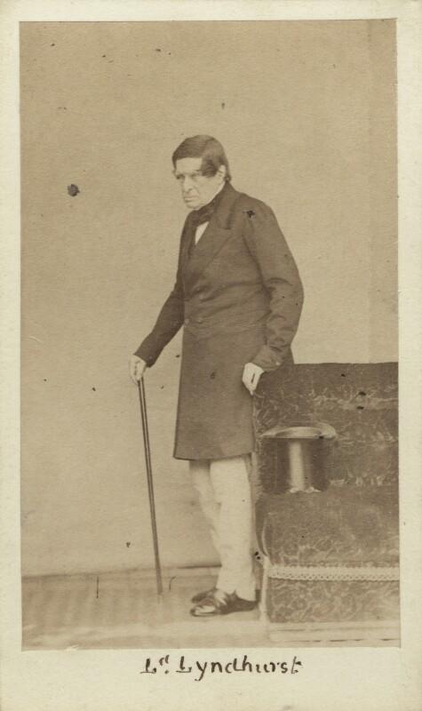John Singleton Copley, Baron Lyndhurst, by Caldesi, Blanford & Co, early 1860s - NPG Ax29645 - © National Portrait Gallery, London
