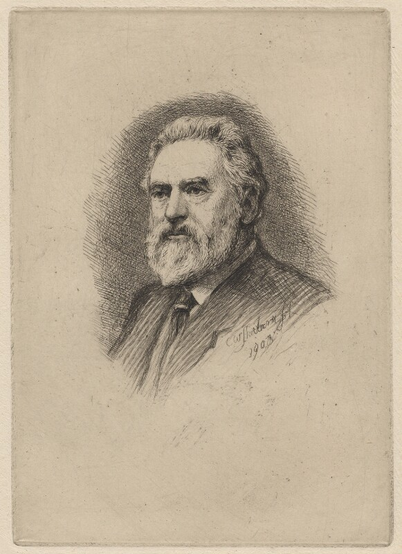 Charles William Sherborn, by Charles William Sherborn, 1903 - NPG D21210 - © National Portrait Gallery, London