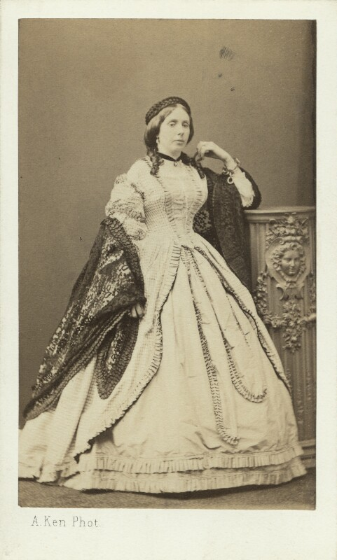 Frances Anne Emily Churchill (née Vane), Duchess of Marlborough, by Alexandre Ken, early 1860s - NPG Ax29661 - © National Portrait Gallery, London