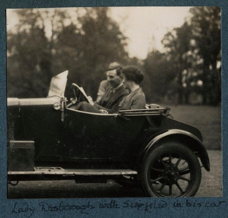 Siegfried Loraine Sassoon; Ethel Anne Priscilla ('Ettie') Grenfell (née Fane), Lady Desborough, by Lady Ottoline Morrell, 1926 - NPG Ax142554 - © National Portrait Gallery, London