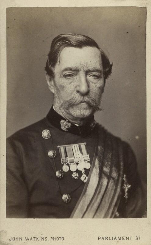 Robert Cornelis Napier, 1st Baron Napier of Magdala, by John Watkins, 1860s - NPG Ax11983 - © National Portrait Gallery, London