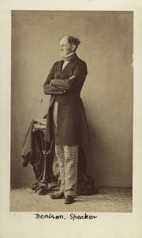 (John) Evelyn Denison, 1st Viscount Ossington, by Caldesi, Blanford & Co, early 1860s - NPG Ax29676 - © National Portrait Gallery, London