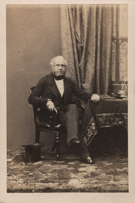 Henry John Temple, 3rd Viscount Palmerston, by Camille Silvy, 1860 - NPG Ax29683 - © National Portrait Gallery, London