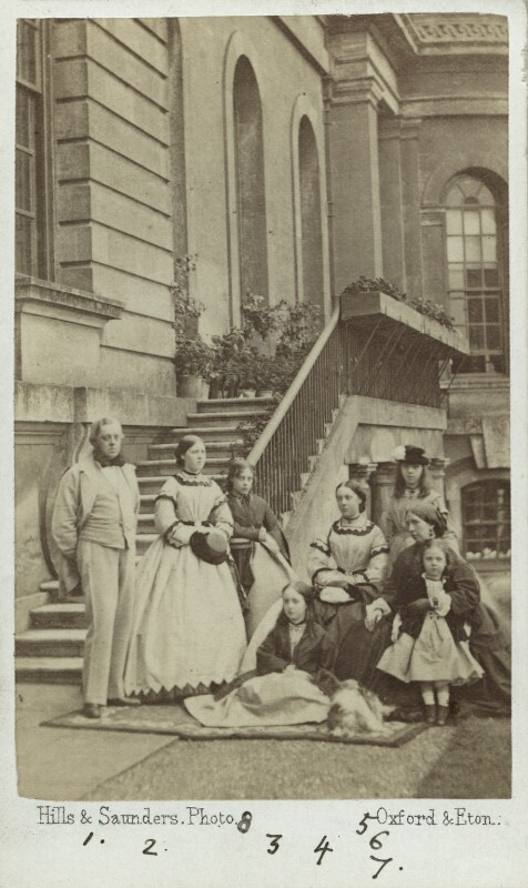 The 7th Duke of Marlborough and his family, by Hills & Saunders, circa 1864 - NPG Ax29663 - © National Portrait Gallery, London