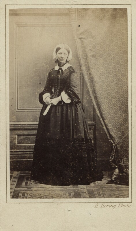 Florence Nightingale, by Henry Hering, (late 1856-1857) - NPG Ax29671 - © National Portrait Gallery, London
