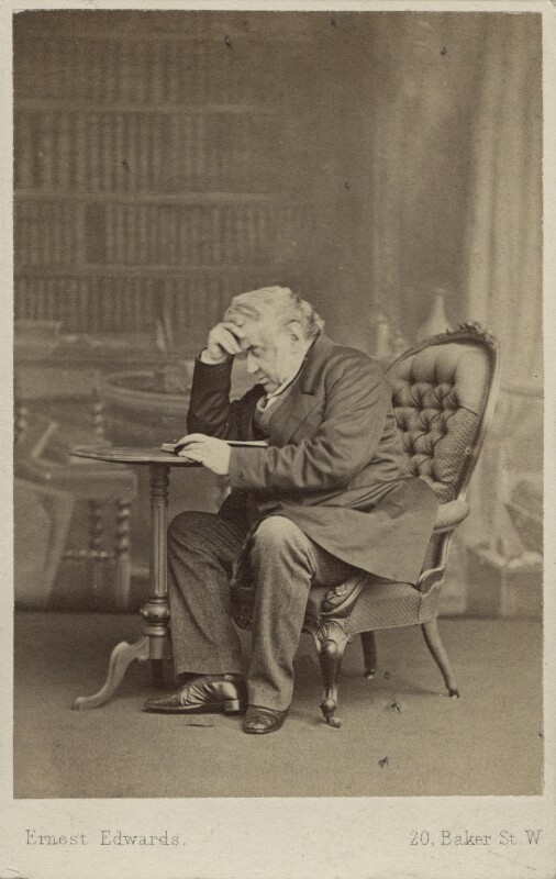 Sir Anthony Panizzi, by Ernest Edwards, circa 1864 - NPG Ax29949 - © National Portrait Gallery, London