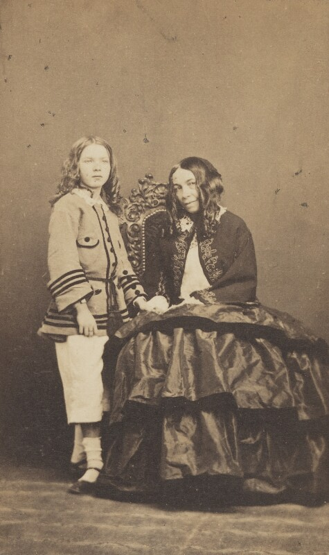 Robert Wiedemann Barrett Browning; Elizabeth Barrett Browning, by Fratelli D'Alessandri, 19 June 1860 - NPG P1094 - © National Portrait Gallery, London