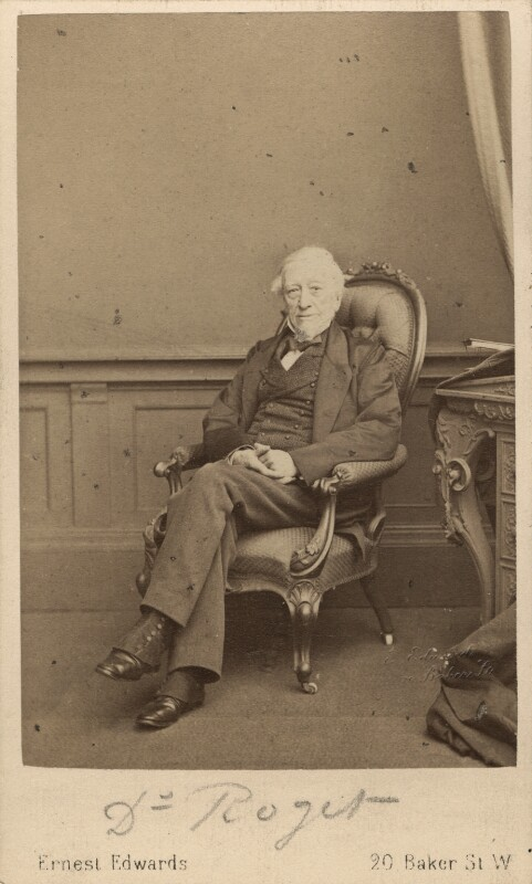 Peter Mark Roget, by Ernest Edwards, 1863-1867 - NPG Ax29962 - © National Portrait Gallery, London
