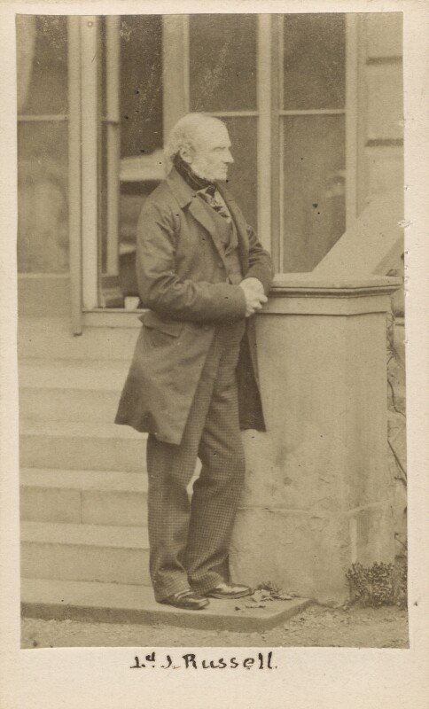 John Russell, 1st Earl Russell, by Caldesi, Blanford & Co, early 1860s - NPG Ax29967 - © National Portrait Gallery, London