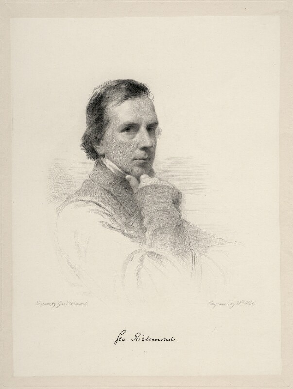 George Richmond, by William Holl Jr, after  George Richmond, 1861 or after - NPG D20694 - © National Portrait Gallery, London