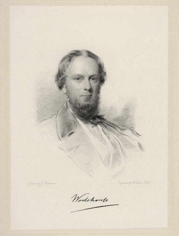 John Wodehouse, 1st Earl of Kimberley, by William Holl Jr, after  George Richmond, (1862) - NPG D20697 - © National Portrait Gallery, London