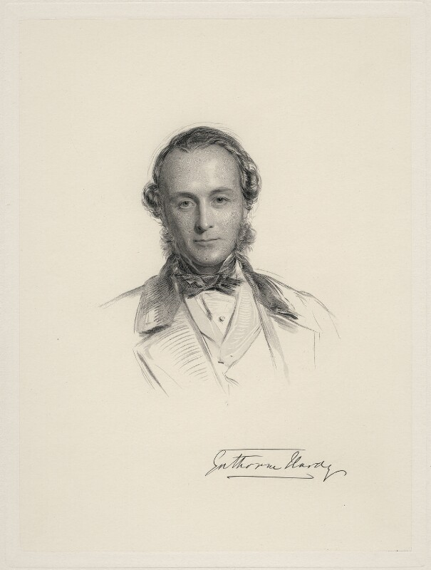 Gathorne Gathorne-Hardy, 1st Earl of Cranbrook, by William Holl Jr, after  George Richmond, 1864 or after - NPG D20700 - © National Portrait Gallery, London