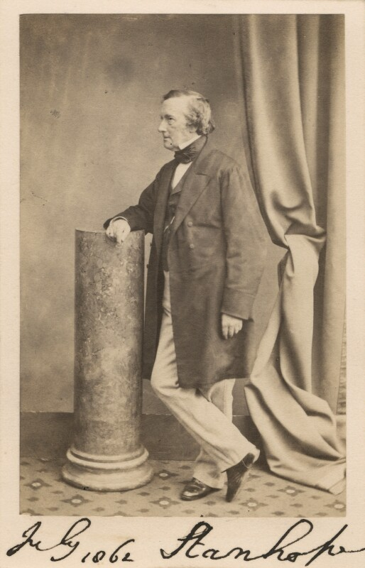 Philip Stanhope, 5th Earl Stanhope, by Maull & Polyblank, circa 1862 - NPG Ax30352 - © National Portrait Gallery, London