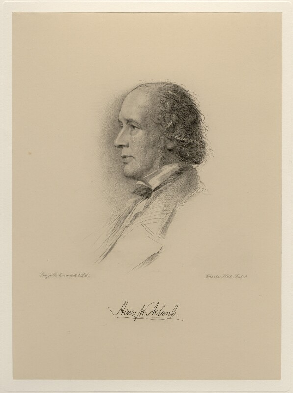 Sir Henry Wentworth Acland, 1st Bt, by Charles Holl, after  George Richmond, (1877) - NPG D20707 - © National Portrait Gallery, London